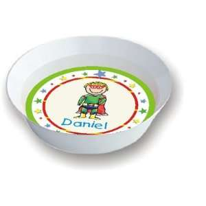 Pen At Hand Stick Figures   Melamine Bowls (Superhero