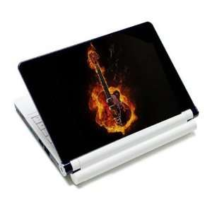 Flame Hot Rock Guitar Laptop Protective Skin Cover Sticker