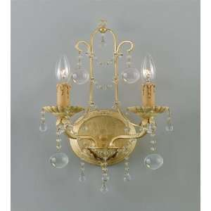 4612 CM Champagne Lena Wrought Iron Wall Sconce 4612
