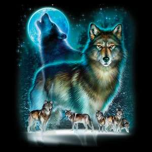 Wolf Shirts Wolves & Moonlight Wolf T Shirt Tee Hoodie Long Sleeve
