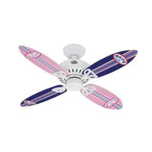 Hunter Fan 25695 Bayport Ceiling Fan, White with Surfboard
