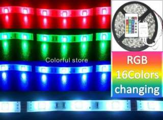 5M Waterproof SMD 5050 RGB LED Strip 150LEDs +IR Remote