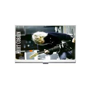kurt cobain nirvana Business Card Holder