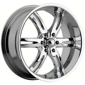 Akuza Dominion 20x9 Chrome Wheel / Rim 6x5.5 with a 30mm Offset and a