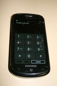 Samsung SGH i917 Focus   Black (AT&T) Smartphone for Parts Or Repair