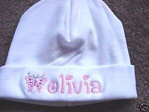 Personalized Girls Baby Infant Newborn Hat Cap W/name