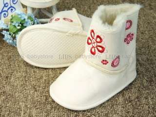 A263 new baby toddler girl white fur boots shoes size 2 3 4
