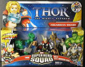 THOR MOVIE SUPER HERO SQUAD HULK ODIN ASGARDIAN SMASH