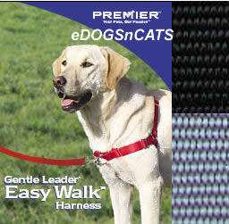 GENTLE LEADER EASY WALK HARNESS DOG BLACK/SILVER SMALL 759023067438