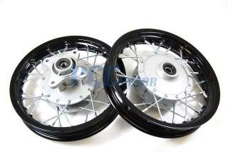 AND REAR RIM WHEEL DRUM BRAKE XR50 CRF50 STOCK BIKE 12mm RM01K + 02K