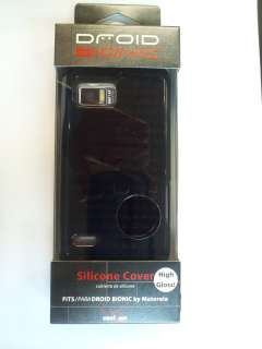 Motorola XT875 Droid BIONIC Black High Gloss Silicone Cover Case OEM
