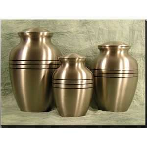 Pewter Finish Solid Brass Pet Urn Patio, Lawn & Garden