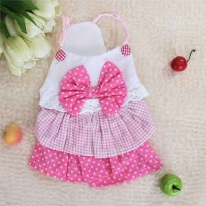 Layered Dress Skirt Apparel Clothes for Pet Dog   L Pet