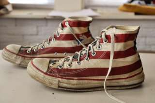 Vtg CONVERSE ALL STAR SHOES ~ 7.5 STARS & STRIPES USA AMERICAN FLAG