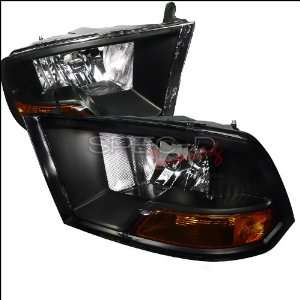 Dodge Ram 2009 2010 2011 2012 Euro Headlights   Black