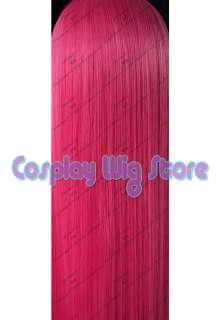 Angel Beats Yui Anime Cosplay Long Hot Pink Wig