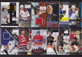 HUGE AUTO JERSEY PATCH ROOKIE/RC HOCKEY SPORTS CARD COLLECTION/LOT