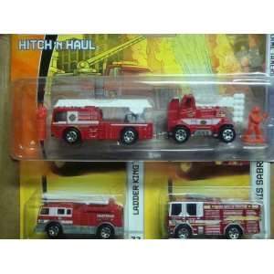Matchbox Hitch n Haul Fire Truck/Engine Set With Figures