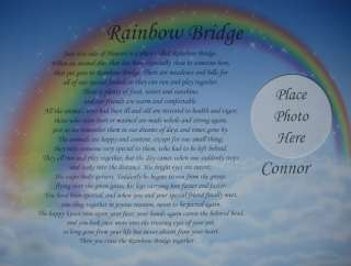 RAINBOW BRIDGE MEMORIAL POEM IN LOVING MEMORY OF BELOVED PET LOSS OF