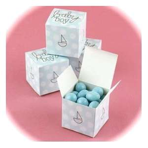 25 Blue Polka Dotted Baby Boy Favor Boxes/New/Darling