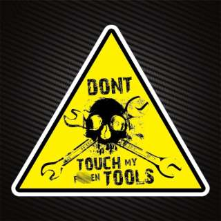 10x WORKSHOP TOOLBOX WARNING STICKERS DECALS *BARGAIN*