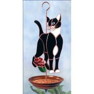 Cat and Flower Bird Feeder