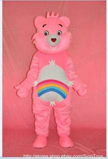 Care Bear Pink Mascot Costume Fancy Dress Outfit