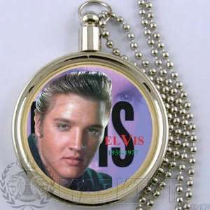 ELVIS PRESLEY THE KING OF THE ROCK COIN NECKLACE PENDANT