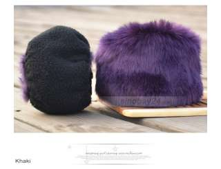K61001 Womens Cute Comfy faux fur Glove Mittens Winter Warmer