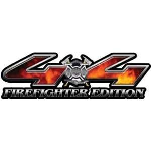 Firefighter Edition Real Fire 4x4 Truck & SUV Decals Automotive