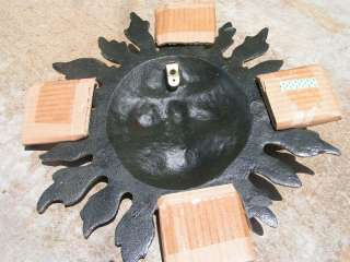 Cast Iron Sun Face Wall Hang Garden Sign