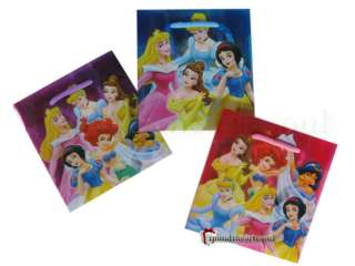 12 DISNEY PRINCESS GIFT TREAT BAGS PARTY FAVORS PGB2