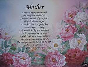 MOTHER POEM PRETTY GIFTS FOR MOM BIRTHDAY, CHRISTMAS, MOTHERS DAY