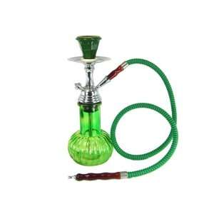 1 HOSE GREEN GLASS MELON HOOKAH