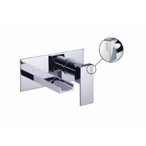 Brick 6.14 Single Handle Wall Mount Waterfall Bathroom Sink Faucet
