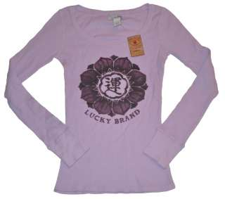LUCKY BRAND Womens Thermal t Shirt l/s Top New S M L XL