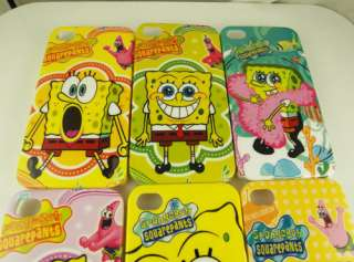 PCS cute SpongeBob Hard cover Case for iPhone 4 4G 4S Yellow
