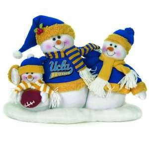 UCLA Bruins Plush Snowman Family Christmas Decoration