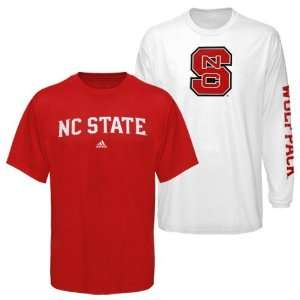 adidas North Carolina State Wolfpack Red White 3 In 1 T shirt Combo