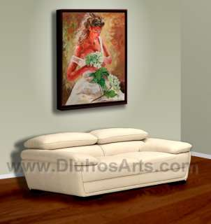 WOMAN FIGURE ROMANCE WHITE Original MODERN Knife Canvas Oil Painting