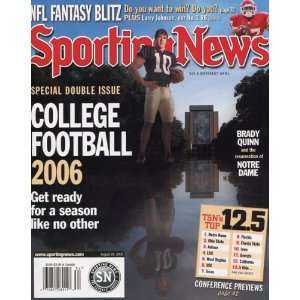 News August 25, 2006 College Football Cover Magazine Sports
