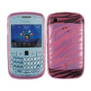 Zebra Baby Pink TPU Ice Candy Skin Soft Gel Case Cover for