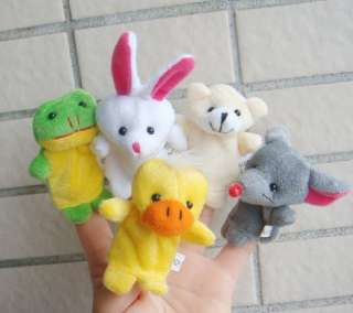 10 Animal Finger Puppet Soft Puppy Child Favor New