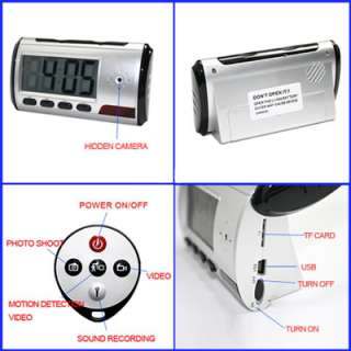 Spy Nanny Cam Camera Digital Alarm Clock Mini DVR @ USA