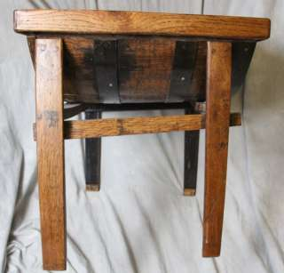L366 RARE VINTAGE NR JACK DANIELS OLD NO 7 OAK BARREL CUSTOM TABLE