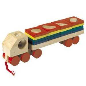 Pull Along Stack/Sort Truck Toys & Games