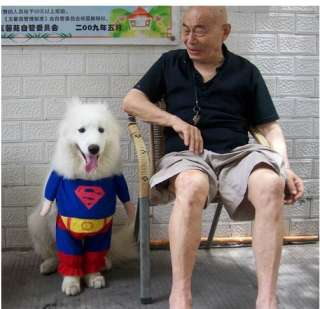 Hot Costumes Superman Suit Nice Pet Dog Clothes T Shirt