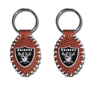 Oakland Raiders   NFL Stitched Football Shape Key Ring (2