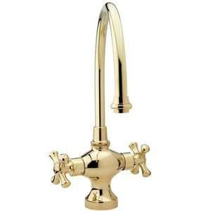 Nickel Bathroom Sink Faucets Single Hole Bar Faucet With Cross Handles