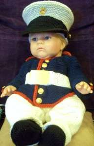 Baby Marine Corps Dress Uniform Blues Outfit Photo Prop Newborn 3